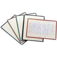【最小購入数10冊】合皮クリアテーピングメニュー 2ページ B4/A4/B5/A5 黒/エンジ/茶/緑/紺