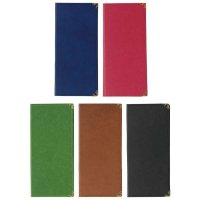 【10冊よりお届け可能】ラバー二ツ折伝票ホルダー BH-4 ブラック/ブルー/グリーン/ブラウン/エンジ
