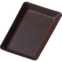 【5個よりお届け可能】合皮キャッシュトレイ CT-7 ブラウン/ブラック/レッド/ブルー