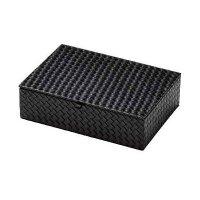 【3個よりお届け可能】メッシュレザータッチシリーズ アメニテイ&多目的ボックス(ふた付) AT-330 ブラック/ブラウン