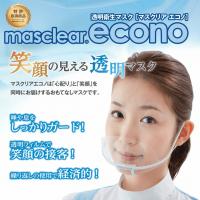 【品薄のため納期かかります】【ケース販売】透明衛生マスク マスクリア エコノ(M-ECONO-10) 10個入り×30箱【300個】