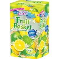 【10ケースよりお届け可能】フルーツバスケット レモン&ライム消臭 12ロール ダブル 27.5m