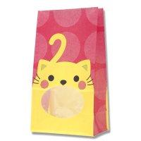 【ケース販売】 紙袋 窓付袋 パックンバッグ No.4 ネコ 【2,000枚入り】