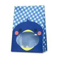 【バラ販売】紙袋 窓付袋 パックンバッグ S1F ペンギン 【50枚入り】