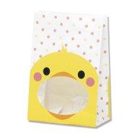 【バラ販売】紙袋 窓付袋 パックンバッグ S1F ヒヨコ 【50枚入り】
