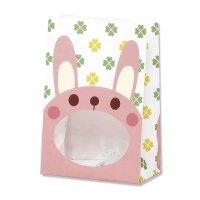 【バラ販売】紙袋 窓付袋 パックンバッグ S1F ウサギ 【50枚入り】
