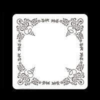 コースター0.5mm角花柄