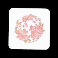 遊膳 CO-19 花雅コースター 角 桜 【100枚入り】