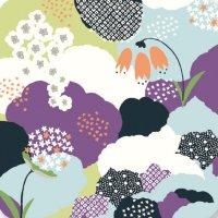 遊膳 CO-H06 花コースター 花園 紫 【100枚入り】