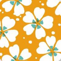 遊膳 CO-H09 花コースター 芝桜 橙 100枚入