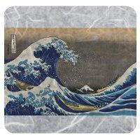 【最小購入数10枚】 遊膳 JCF-003 和紙樹脂コースター 神奈川沖浪裏 【1枚入り】