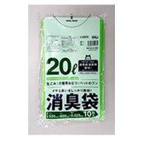 AS25 消臭袋 20L グリーン半透明 0.025 10枚入り×60冊【600枚】