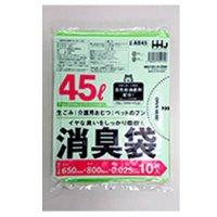 AS45 消臭袋 45L グリーン半透明 0.025 10枚入り×40冊【400枚】