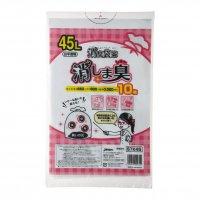 STN45 消臭袋策 消しま臭 白半透明 0.020 10枚入り×60冊【600枚】