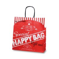 No.1609 T-6 自動紐手提袋 HAPPY BAG 【200枚入り】