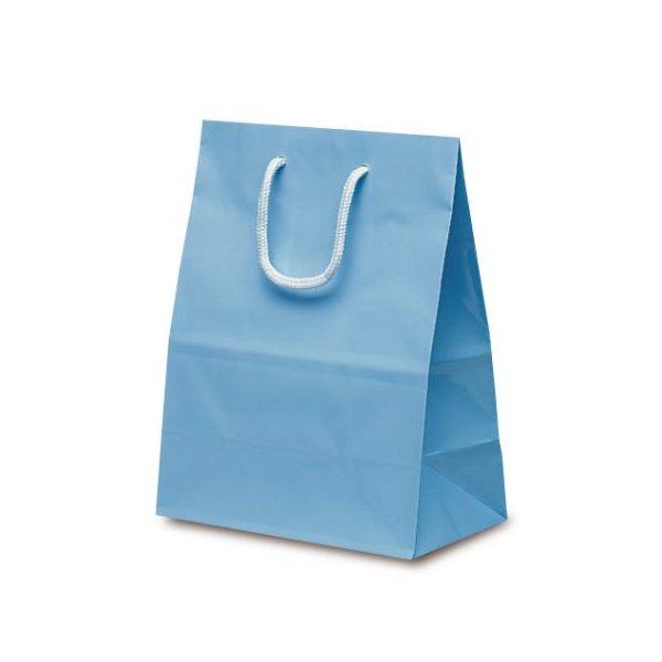 No.1518 ミニバッグ 手提袋 ブルー 【100枚入り】が安い! 業務用品の大量購入なら激安通販びひん.shop。【法人なら掛け払い可能】【最短翌日お届け】【大口発注値引き致します】