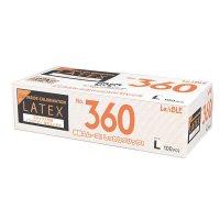 【新規受注停止中】No.360 ラテックス ノンパウダー 指先エンボス L 100枚入り×20箱【2,000枚】