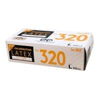 【新規受注停止中】No.320 ラテックス ノンパウダー クロリネーションエンボスタイプ L 100枚入り×20箱【2,000枚】