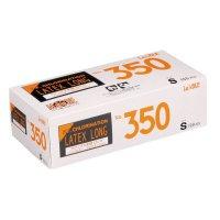 【新規受注停止中】No.350 ラテックス ノンパウダー ロング エンボス S 100枚入り×20箱【2,000枚】