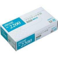 【新規受注停止中】バリアローブ No.2200 プラスチック手袋 ライト (粉付き) M 100枚入り×20箱【2,000枚】