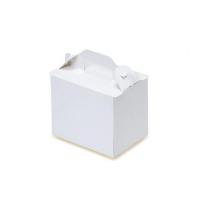 手提ケーキ函 105折OPL-ホワイト(折り式組立) 3×4 【400枚入り】