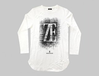 ZE  Hoarse Logo Damage Long Length WHITE