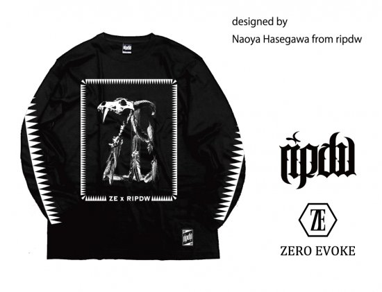 ZERO EVOKE × ripdw / BEAST Long Sleeve Tee<img class='new_mark_img2' src='//img.shop-pro.jp/img/new/icons25.gif' style='border:none;display:inline;margin:0px;padding:0px;width:auto;' />
