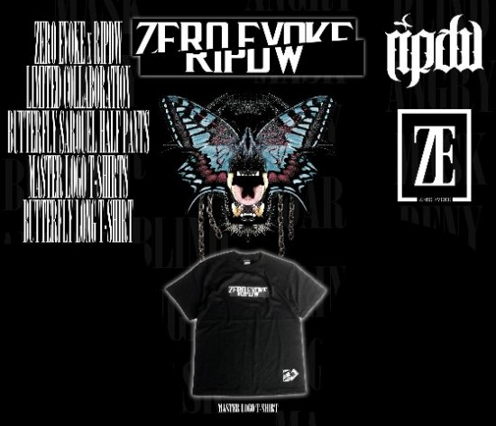 【ripdw × ZERO EVOKE】 MASTER LOGO T-SHIRT<img class='new_mark_img2' src='//img.shop-pro.jp/img/new/icons20.gif' style='border:none;display:inline;margin:0px;padding:0px;width:auto;' />