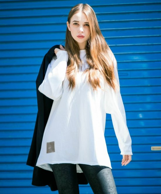 DAMAGE OVERSIZE L/S-TEE【WHITE】<img class='new_mark_img2' src='//img.shop-pro.jp/img/new/icons20.gif' style='border:none;display:inline;margin:0px;padding:0px;width:auto;' />