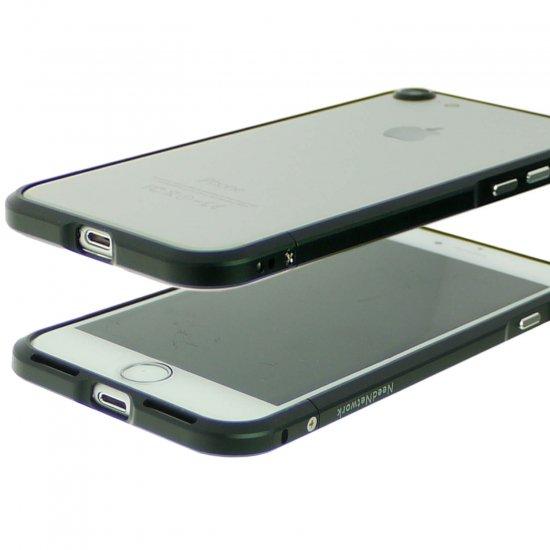 iphone7アルミバンパーケース ブラック下部の表と裏