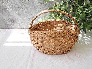 三つ編み模様バスケット【L・蓋なし】