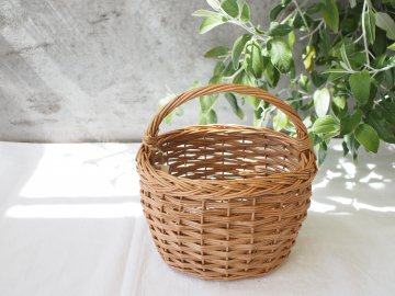 三つ編み模様バスケット 【M・蓋なし】