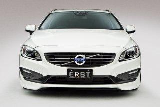 ERST(エアスト)ボルボ専用 V60 2014年~ エアロパーツ 3Pスペシャルセット(フロントリップスポイラー/センターフラップ/サイドステップ/リアスカート)