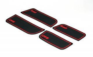ボルボS60用ポケットラバーマット4P-RED