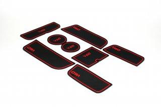 ボルボV60用ポケットラバーマット8P-RED