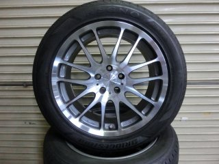 RAYS Strahlen ME 18インチ 鍛造ホイール タイヤ4本SET 中古品(XC70 SB)