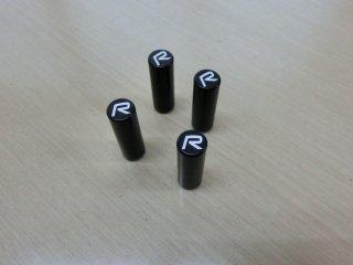 在庫処分大特価! 在庫1セットのみ IPD アルミニウムドアロックピン ブラック(R ロゴ入り)