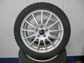 V60(FB/FD)用 17インチアルミホイール・スタッドレスタイヤセット(中古品)