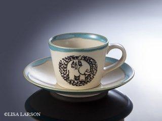 【リサラーソン】益子のコーヒーカップ&ソーサ