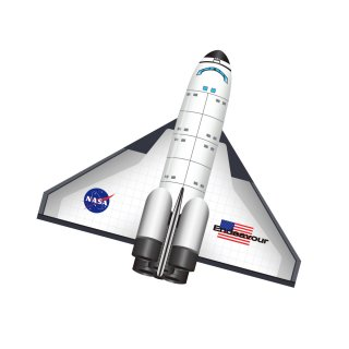 2Dナイロン フライトゾーン スペースシャトル