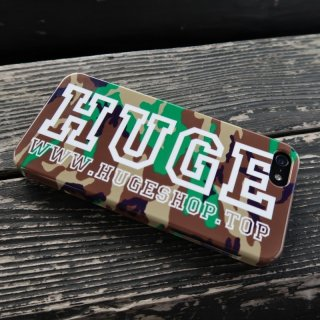 MR.HUGE ARMY ROGO PRINTED (迷彩 ロゴ プリント) Phone CASE BLACK