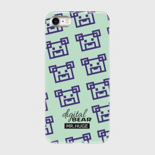 MR.HUGE DIGITAL BEAR PRINTED PhoneCASE グリーン