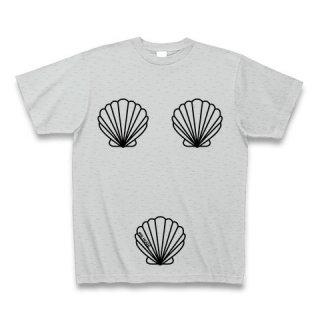 MR.HUGE TRIO SHELLFISH PRINTED (トリオ 貝殻 プリント)Tシャツ グレー
