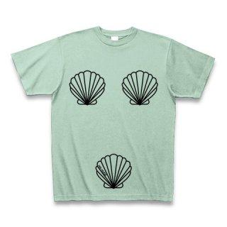 MR.HUGE TRIO SHELLFISH PRINTED (トリオ 貝殻 プリント)Tシャツ グリーン
