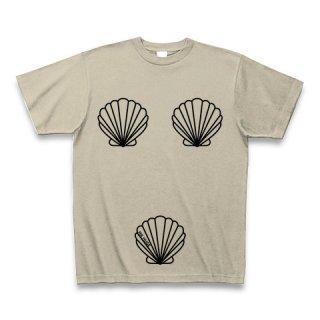 MR.HUGE TRIO SHELLFISH PRINTED (トリオ 貝殻 プリント)Tシャツ ベージュ