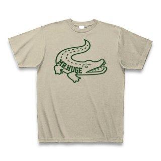 MR.HUGE CROCODILE PRINTED (わに ビッグ プリント)Tシャツ ベージュ