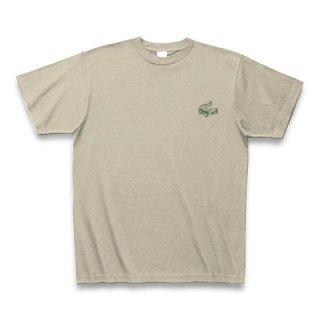 MR.HUGE MINI CROCODILE PRINTED (わに ミニ プリント)Tシャツ ベージュ