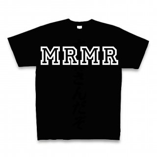 MR.HUGE MRMR COLLEGE HOWLING PRINTED Tシャツ ブラック×ホワイト