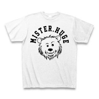 MR.HUGE COOL BEAR LOGO(クールベア)PRINTED Tシャツ ホワイト×ブラック