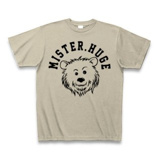MR.HUGE COOL BEAR LOGO(クールベア)PRINTED Tシャツ ベージュ×ブラック